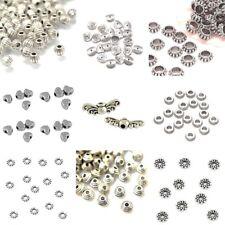Tibetan Silver Spacer Beads Wing Round Bicone Rondelle Twist Metal
