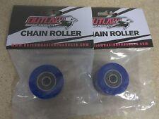 New Blue Upper + Lower Chain Rollers Honda CR 125 250 480 500 CRF 250R 250X