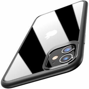 Handy Hülle iPhone 12 Mini Pro Max Case Schutzhülle Klar Silikon Cover + Glas