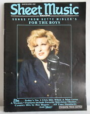 1992 Sheet Music Piano Magazine Bette Midler Cover For The Boys Musical