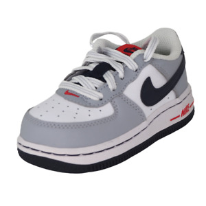 Nike Air Force One TD 314194 169 Toddler Shoes White Sneakers Vintage Leather DS