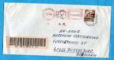 CASTELLI - £.100  ISOLATO + AFFRANCATURA MECCANICA per la GERMANIA  (253735)