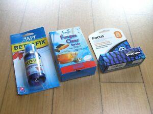 (3) New Fish Meds, Bettafix, Fungus Clear, Focus API, Seachem, Jungle