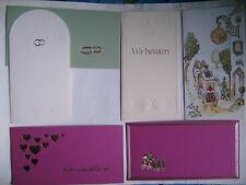 9 Hochzeitskarten + 1 Danksagung + 1 Verlobungskarte - alles mit Kuverts, neu