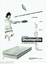 PUBLICITE ADVERTISING 086  1960  le matelas Dunlopillo en mousse latex
