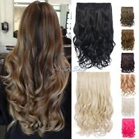 Thick One Piece Strip Clip in Curly Hair Extension in 16'' & 20'' Heat Resistant