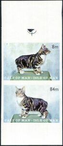 Calf of Man MANX CATS/Pets/Domestic Animals/Nature 2 x 1v IMPERFORATE pr (s5110)