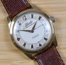 Vintage ATLANTIC WORLDMASTARUR Manual Wind 21J Pink Rose Gold Men's Watch