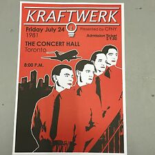 KRAFTWERK - CONCERT POSTER CONCERT HALL TORONTO FRIDAY 24th JULY 1981 (A3 SIZE)
