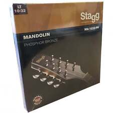 Stagg Conjunto de 4 pares de cuerdas para mandolina o BANJOLÍN Calibrador De Luz