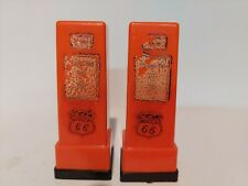 Vintage Route 66 Gas Pump Salt And Pepper Shaker Set