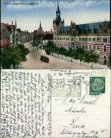 Ansichtskarte Erfurt Anger mit Hauptpost 1918