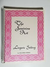 "Vintage ""The Feminine Art Lingerie Sewing"" Book by Dolores Krinke, Signed Copy"