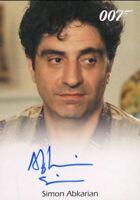 James Bond in Motion 2008 Simon Abkarian as Dimitrios Autograph Card