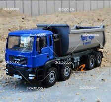 Blue 1:50 Heavy Hydraulic Dump Truck Construction Equipment Diecast Model 1/50