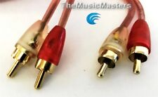 MicroFlex OFC Premium 3' ft Dual RCA Stereo Audio Cable Wire (M-M) Gold Plated