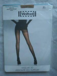 Wolford Miss W 30 Absolute Leg Support Tights Shape & Control XL Caramel 11218