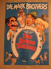 MARX BROTHERS - DAS GROSSE RENNEN - Poster Plakat Groucho Bros Day at the Races