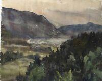Helene Hennemann-Bartsch 1884-1972 Landschaft mit Bergen Bayern Thüringen?