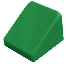 Lego 10 Pièce Tuiles en Béton Vert 30 1 x1x 2/3 Bloc Incliné 54200 Neuf