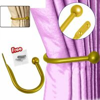 Gold Large Stylish Curtain Hold Back Metal Tie Arm Hook Loop Holder U Shaped
