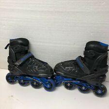 Schwinn Rollerblades In Line Skates Adjustable Size 6 6.5 7 7.5 Youth Blue T31