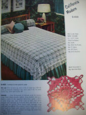 1950's Bedspreads tablecloths crochet patterns CA PA Maryland Texas MCM