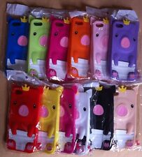 iPhone 5 5S all Colors Pig Crown Soft Silicone Rubber Case Cover