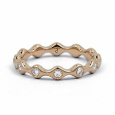 Eternity Natural Not Enhanced Rose Gold Fine Diamond Rings