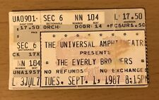 1987 THE EVERLY BROTHERS LOS ANGELES CONCERT TICKET STUB WAKE UP LITTLE SUSIE