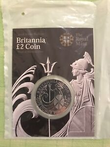 Britannia One Ounce Silver Bullion £2 Coin 2008 (Still in Blister Pack)