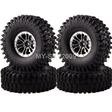 "4pcs 1/10 RC Rock Crawler 1.9"" Aluminum Wheel Rims 120mm Swamper Tire 1051-7037"