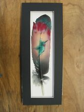 Hummingbird - Russ Abbott Hand Painted Feather - COMMISSIONED