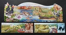Malaysia Rivers 2018 Bird Orchid Butterfly Monkey Fish Ship (stamp + ms MNH *odd