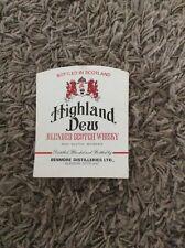 ORIGINAL LABEL HIGHLAND DEW BLENDED SCOTCH WHISKY