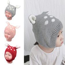 EG_ Winter Baby Boy Girl Beanie Hat Warm Cute Rabbit Ear Toddler Knitted Cap Sho