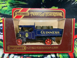Matchbox Models of Yesteryear Y27 1922 Foden Steam Lorry Guinness 1/72