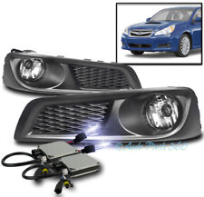 BUMPER DRIVING FOG LIGHTS LAMP CHROME W/10K XENON HID+SWITCH FOR 10 11 12 LEGACY