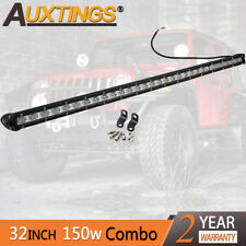 Super Mini 32'' 150W Led Light Bar Combo Single Row Work Driving Lights 4x4 SUV