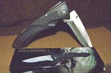 "Nib 4.5"" Closed Black Handle,Lock Back Blade,Stainless Steel Frost Cutlery Knife"