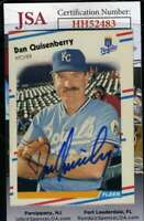 Dan Quisenberry 1988 Fleer JSA Coa Autograph Authentic Hand Signed