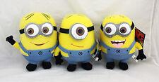 Batch of 3 Plush toys Minion 17cm Gru Despicable Me sunglasses 3D