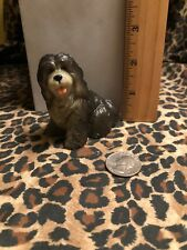 Vintage New-Ray Rubber Plastic Dog Toy Figurine Old English Sheepdog Free S&H