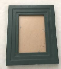"""Wood 5 1/2X7 1/2"""" Forest Green Picture Frame Holds 3.5X5"""" Photo"""