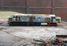 OO gauge scrapyard Class 37 diesel loco, heavily  rusted and weathered. Ref 1