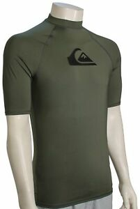 Quiksilver All Time SS Rash Guard - Thyme - New