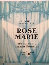 ROSE MARIE (PIANO SELECTION) - VINTAGE SHEET MUSIC (M037)