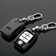 Carbon Fiber Black Key Cover for KIA Cerato Forte Sorento Sedona 2016 Optima