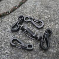 10pcs Mini Carabiner EDC Snap Spring Clips Hook Survival SF Keychain Pocket Tool
