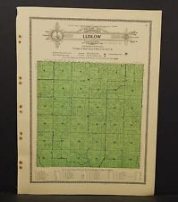 Iowa Allamakee County Map Ludlow Township 1917  W11#64